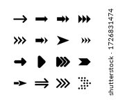 set of arrow glyph icon design. ...