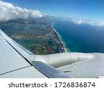 Airplane View Of Miami Florida...