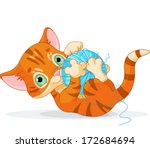 Tubby Kitten Playing With A...