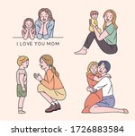 a collection of happy looks... | Shutterstock .eps vector #1726883584
