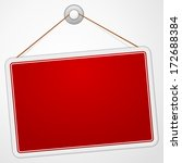 red sign board | Shutterstock .eps vector #172688384