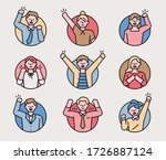 the characters in the circle... | Shutterstock .eps vector #1726887124