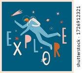 explore the universe... | Shutterstock .eps vector #1726912321