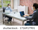 computer analyst working on... | Shutterstock . vector #1726917901