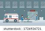 doctor with injured patient in... | Shutterstock .eps vector #1726926721