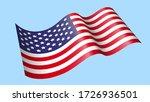 Waving America Flag Vector...