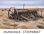 A Vintage Pioneer Seed Drill...