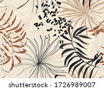modern exotic pattern with... | Shutterstock .eps vector #1726989007
