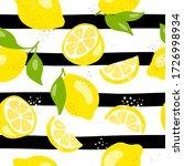 fresh yellow fruits of lemon ... | Shutterstock .eps vector #1726998934