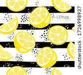 fresh yellow fruits of lemon ...   Shutterstock .eps vector #1726998937