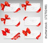 collection of gift cards with... | Shutterstock .eps vector #172702481