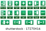 emergency exit sign vector pack ... | Shutterstock .eps vector #17270416