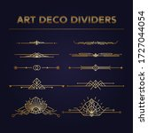 art deco vintage dividers and...