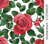 seamless background with roses. ... | Shutterstock .eps vector #172704419