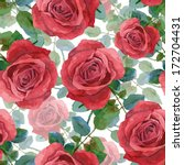 seamless background with roses. ... | Shutterstock .eps vector #172704431