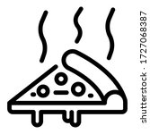 hot slice pizza icon. outline... | Shutterstock .eps vector #1727068387