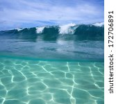 Split View Of Ocean Wave...