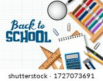 back to school vector... | Shutterstock .eps vector #1727073691