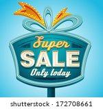 retro sale signboard. vector | Shutterstock .eps vector #172708661