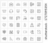 36 universal line icons for web ...