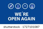 we are open again text and... | Shutterstock .eps vector #1727101087