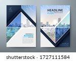 annual report brochure flyer... | Shutterstock .eps vector #1727111584