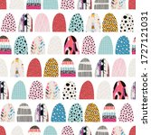 seamless pattern  patchwork...   Shutterstock .eps vector #1727121031