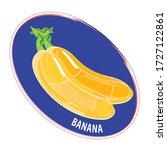 banana  clip art.in the graphic ... | Shutterstock .eps vector #1727122861