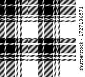 Black And White Colors Tartan...