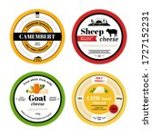 cheese label. cow goat sheep... | Shutterstock .eps vector #1727152231