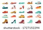 cartoon shoes. flat autumn...   Shutterstock .eps vector #1727152294