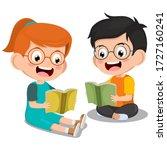 cute little boy and girl... | Shutterstock .eps vector #1727160241