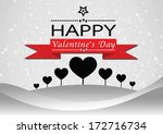 happy valentine's day greeting... | Shutterstock .eps vector #172716734