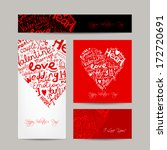 set of valentine cards for your ... | Shutterstock .eps vector #172720691