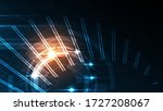 abstract technology background... | Shutterstock .eps vector #1727208067