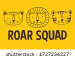 roar squad. tiger and  lion... | Shutterstock .eps vector #1727236327