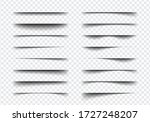 set of realistic shadow effect... | Shutterstock .eps vector #1727248207