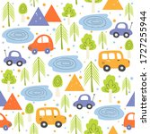 cute forest capming seamless... | Shutterstock .eps vector #1727255944
