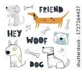 vector hand drawn color... | Shutterstock .eps vector #1727264437