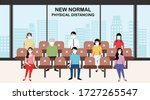 new normal concept and physical ... | Shutterstock .eps vector #1727265547