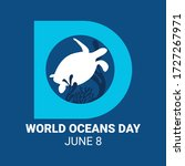 world ocean day campaign. world ... | Shutterstock .eps vector #1727267971