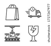 shipping   delivery icon set  ...