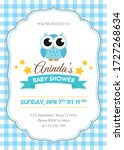 baby shower invitation with... | Shutterstock .eps vector #1727268634