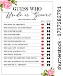 guess who bride or groom game ... | Shutterstock .eps vector #1727282791