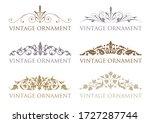 vintage floral design elements. ... | Shutterstock .eps vector #1727287744