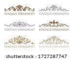 vintage floral design elements. ... | Shutterstock .eps vector #1727287747