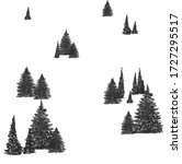 pine sketch side view hand draw ... | Shutterstock .eps vector #1727295517