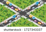 isometric seamless repeating... | Shutterstock .eps vector #1727343337