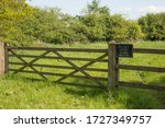 Private Land Sign On Wooden...