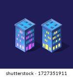 a smart 3d illustration city... | Shutterstock .eps vector #1727351911